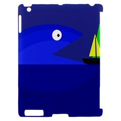 Blue monster fish Apple iPad 2 Hardshell Case (Compatible with Smart Cover)