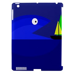 Blue monster fish Apple iPad 3/4 Hardshell Case (Compatible with Smart Cover)