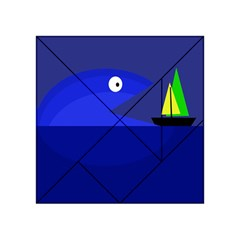 Blue Monster Fish Acrylic Tangram Puzzle (4  X 4 )