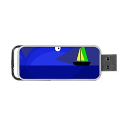 Blue monster fish Portable USB Flash (One Side)