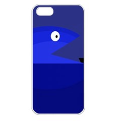 Blue monster fish Apple iPhone 5 Seamless Case (White)