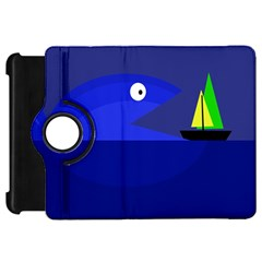Blue monster fish Kindle Fire HD Flip 360 Case