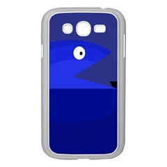 Blue monster fish Samsung Galaxy Grand DUOS I9082 Case (White)