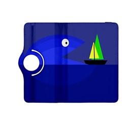 Blue monster fish Kindle Fire HDX 8.9  Flip 360 Case