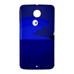 Blue monster fish Nexus 6 Case (White)