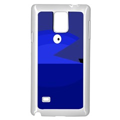 Blue monster fish Samsung Galaxy Note 4 Case (White)