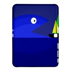 Blue monster fish Samsung Galaxy Tab 4 (10.1 ) Hardshell Case