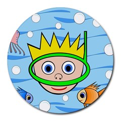 Diver Round Mousepads