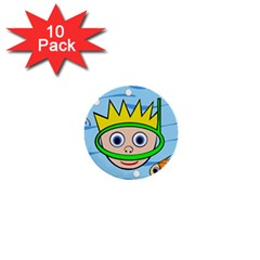 Diver 1  Mini Buttons (10 pack)