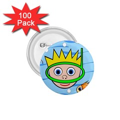 Diver 1.75  Buttons (100 pack)