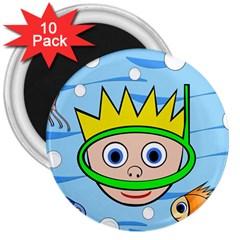 Diver 3  Magnets (10 pack)