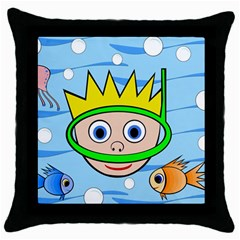 Diver Throw Pillow Case (Black)