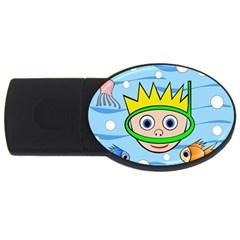 Diver USB Flash Drive Oval (4 GB)