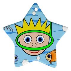 Diver Star Ornament (Two Sides)