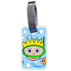 Diver Luggage Tags (One Side)