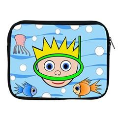 Diver Apple iPad 2/3/4 Zipper Cases