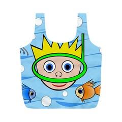 Diver Full Print Recycle Bags (M)