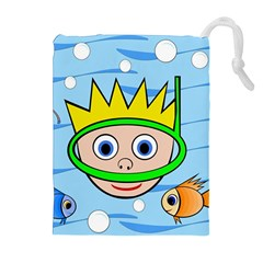 Diver Drawstring Pouches (Extra Large)