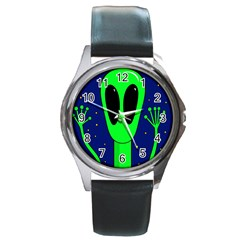 Alien  Round Metal Watch