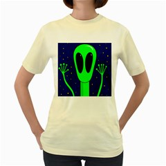 Alien  Women s Yellow T Shirt