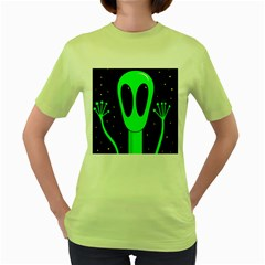 Alien  Women s Green T Shirt