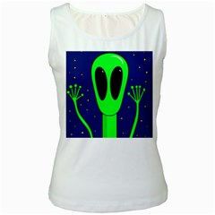 Alien  Women s White Tank Top