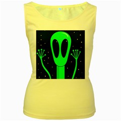 Alien  Women s Yellow Tank Top