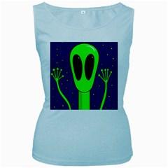 Alien  Women s Baby Blue Tank Top