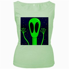 Alien  Women s Green Tank Top