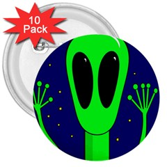 Alien  3  Buttons (10 Pack)