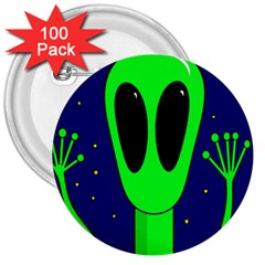 Alien  3  Buttons (100 Pack)