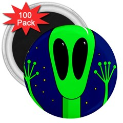 Alien  3  Magnets (100 Pack)