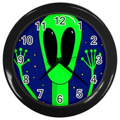 Alien  Wall Clocks (black)