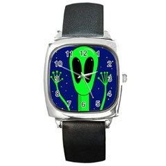 Alien  Square Metal Watch