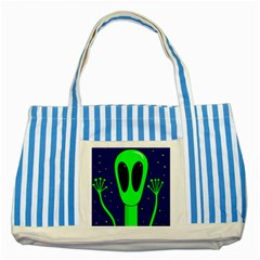 Alien  Striped Blue Tote Bag