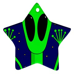 Alien  Star Ornament (Two Sides)