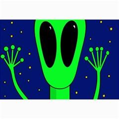 Alien  Canvas 12  x 18