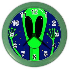 Alien  Color Wall Clocks