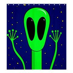 Alien  Shower Curtain 66  x 72  (Large)
