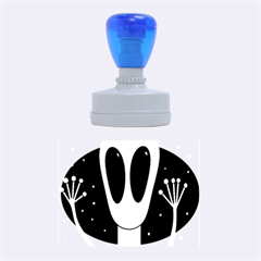 Alien  Rubber Oval Stamps
