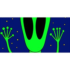 Alien  YOU ARE INVITED 3D Greeting Card (8x4)