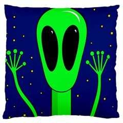 Alien  Large Flano Cushion Case (One Side)