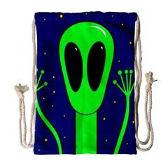 Alien  Drawstring Bag (Large)