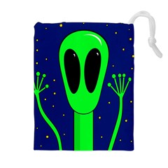 Alien  Drawstring Pouches (Extra Large)