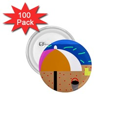 On the beach  1.75  Buttons (100 pack)