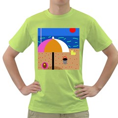 On The Beach  Green T Shirt