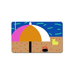 On The Beach  Magnet (name Card)