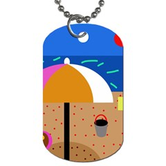 On the beach  Dog Tag (One Side)