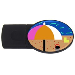 On the beach  USB Flash Drive Oval (1 GB)