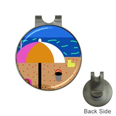 On the beach  Hat Clips with Golf Markers